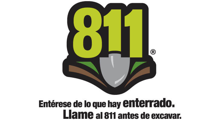 An 811 Logo with Spanish Text below