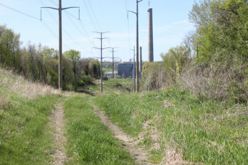 Photo of power lines near the Black Dog project site