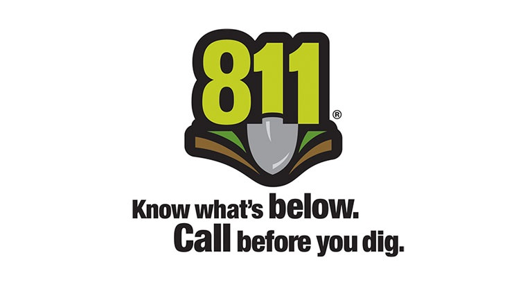 811 shovel logo with caption