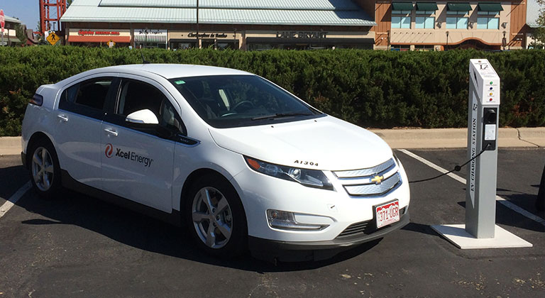 Electric Xcel Energy car