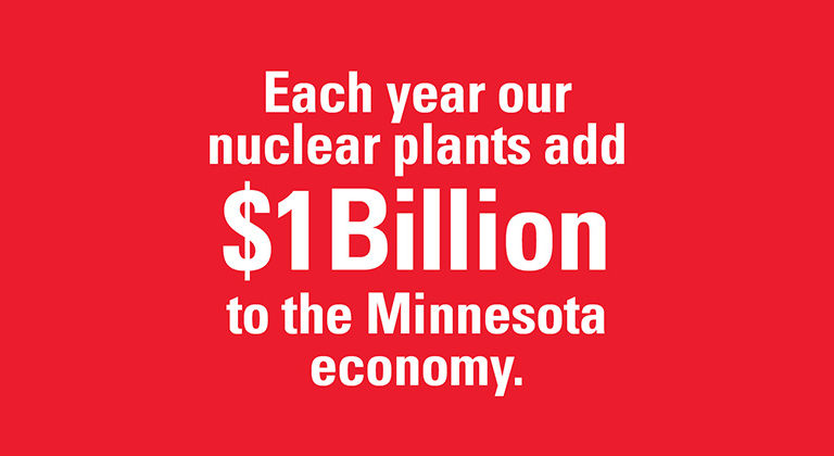Each year our nuclear plants add $1 billion to the Minnesota economy.