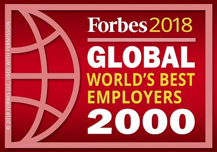Forbes 2018 Global World's Best Employers 2000 logo